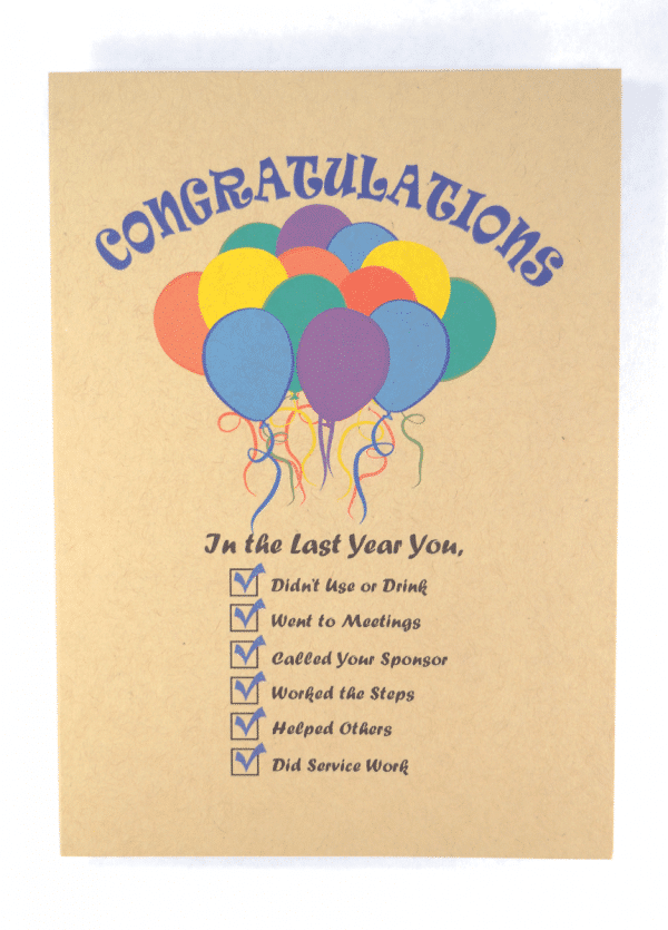 Congratulations happy recovery greeting card