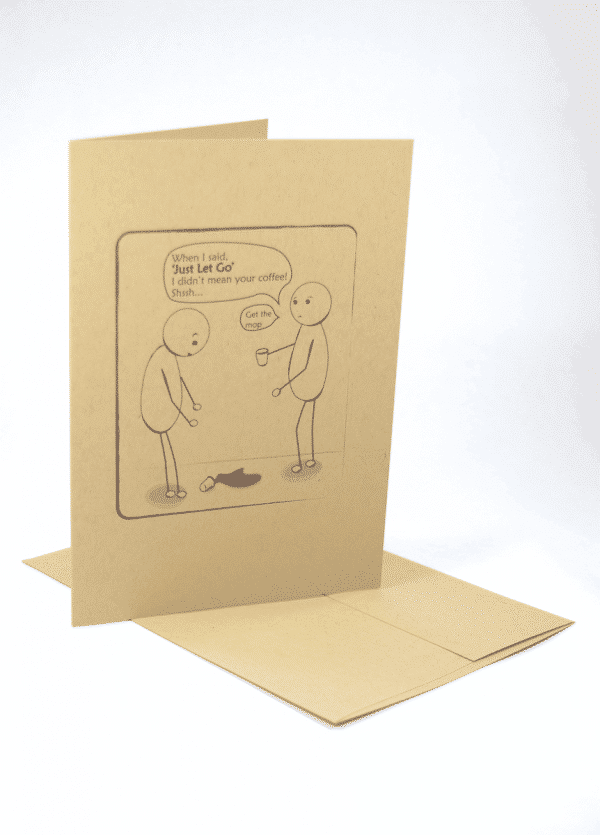 Just Let Go addiction recovery greeting card