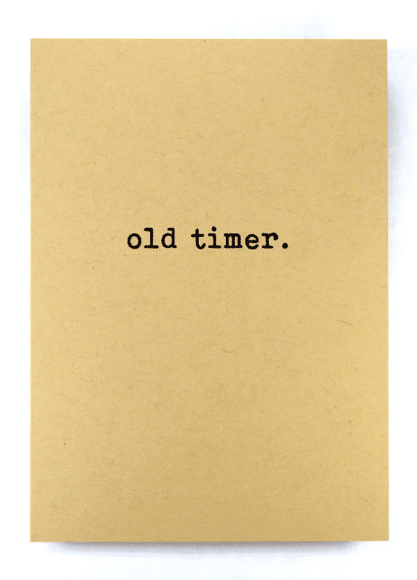 Old timer classic addiction recovery greeting card