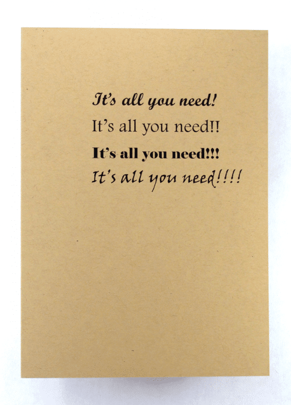 inside view of one day at a time sobriety addiction recovery greeting cards