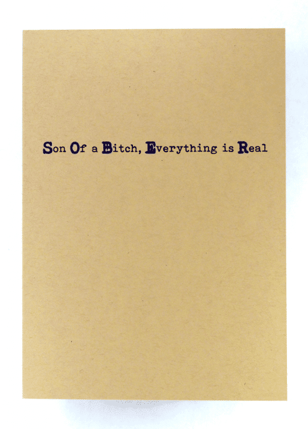 inside of SOBER recovery greeting card