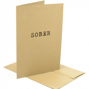 sober greeting card