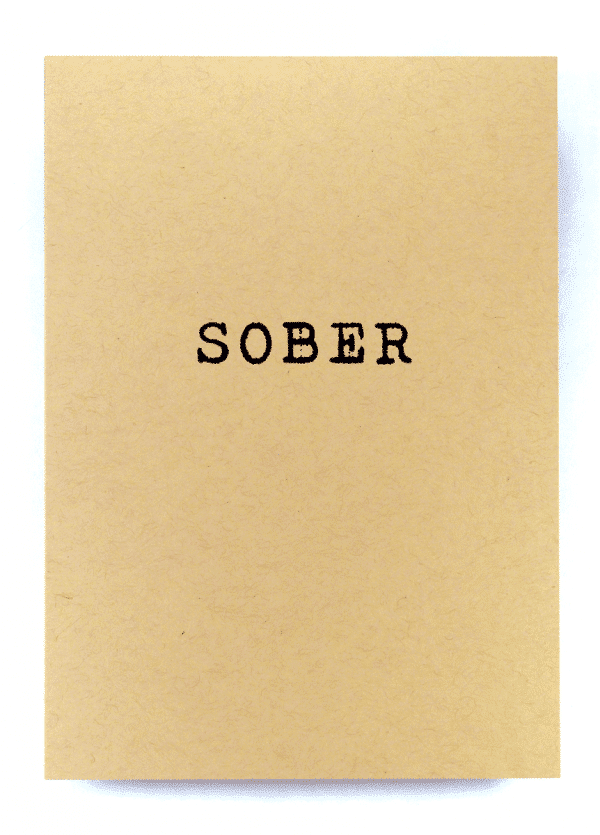SOBER recovery greeting card