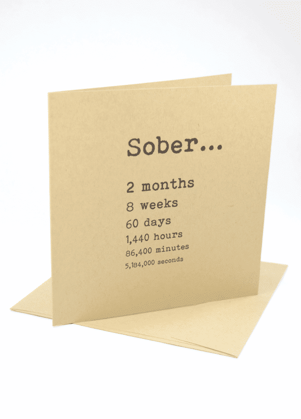 happy 2 month sobriety anniversary greeting card